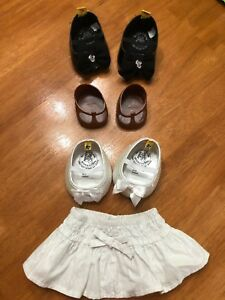 Build A Bear Shoes Lot of 3 Skirt Sequin Heels Clothing