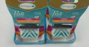 2 Amope Pedi Perfect Mixed Refills (2 Piece), Extra Coarse and Exfoliating Brush