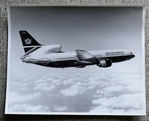 British Airways L-1011 Tristar 500 G-BLUS Airline Official Photograph B & W