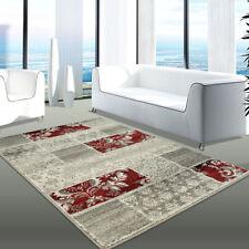 Tapis rouge moderne avec un motif Patchwork pour la maison