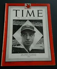 Joe DiMaggio TIME Magazine October 4, 1948 NEWSSTAND New York Yankees Canadian