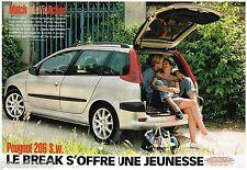 PUBLICITE ADVERTISING 105  2002  PEUGEOT  la 206 SW BREAK   (2p)