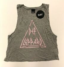 Def Leppard(Vest)Def Leppard-Grey Pink Vest-Womens Small-New