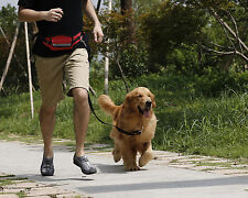 Hands-Free Pet Dog Leash Belt-Poop Bag/Phone/Cash Pocket