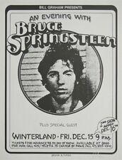 Bruce Springsteen Bill Graham Winterland Original 1978 Concert Poster SIGNED!