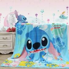 New  Disney Blue Stitch Plush Soft Silky Flannel Blanket Throw Bedding Blanket