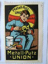 2208 Union Augsburg Reklamemarke  Metall Putz zeigt Soldaten seine Pickelhaube