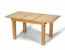 French Rustic Oak Solid Chunky Wood Small Butterfly Extending Dining Table