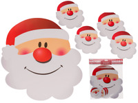 Set of 4 Santa Placemats and 4 Coasters Father Christmas Dining Place Mat Xmas