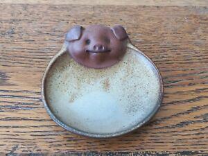 Vintage Japanese Made Piggy Pig Small Plate