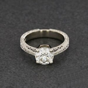 2Ct White Round Diamond Vintage Antique Engagement Ring In 925 Sterling Silver