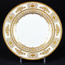 12 Minton Argyle Gold Dinner Plates, gold encrusted,gilt,gilded