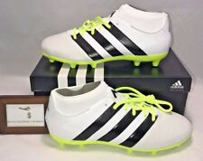 ADIDAS WOMENS SIZE 7.5 ACE 16.3 PRIMEMESH FG / AG  SOCCER CLEATS WHITE BLACK NEW