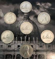 Numis - Lotto 500 Lire Repubblica Italiana Argento -7 Monete Delle 3 CARAVELLE