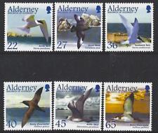 ALDERNEY 2003 MIGRATING BIRDS, SEABIRDS SET OF 6 MOUNTED MINT.