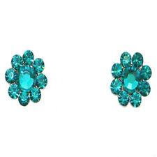 "Tarina Tarantino Crystal Flower Post Earrings 1/2"" Green Gummi ~Made in USA~"