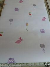Alphabet amis multi papier peint Kids Enfants filles Animaux Lapin Hibou