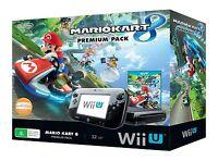 Wii U 32gb Mario Kart 8 Premium Console Pack + (Wii Party U Disc)!