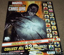 POSTER MARVEL HEROCLIX CHAOS WAR AVENGERS WOLVERINE CAPTAIN AMERICA THOR HAWKEYE