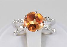 White Gold 18 kt Citrine and Diamond Ring