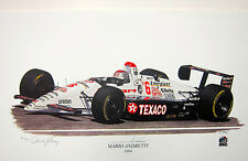 MARIO ANDRETTI AUTOGRAPHED LIMITED EDITION DAVID GRAY 1994 INDY 500 LITHOGRAPH