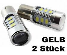 2xsmd LED 24 V voltios bau15s lámparas amarillo/Amber para tractor camión retrocavadoras nuevo Top