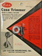Vintage Lee Case Trimmer Pilot & Shell Holder 38 Special