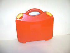 LEGO RED HARD PLASTIC CARRYING CARRY CASE STORAGE BOX with HANDLE