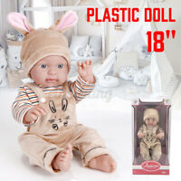 18'' Realistic Large Size Soft Bodied Baby Doll Girls Boys Toy Newborn Doll
