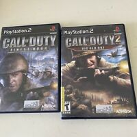 Playstation 2 PS2 Games Lot Call Of Duty Finest Hour, Big Red One