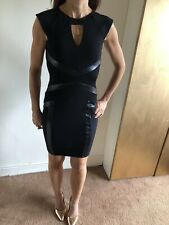 Stunning River Island Bodycon Dress Leather Look Size 8