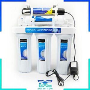 Depuratore acqua potabile 5 STADI purificatore con lampada UV Philips rubinetto
