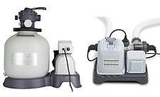 Intex Krystal Clear 3000 GPH Sand Filter Pump & 15000 Gal Saltwater Chlorinator