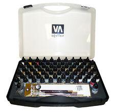 Vallejo Model Air Paint - Basic Colors Set (72 Colours + 3 Brushes + Carry Case)