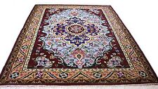 "Antique vintage Persian handmade hand-knotted thick rug 128"" X 88"" pure wool #14"
