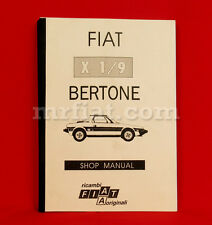 Fiat X1/9 Workshop Manual New