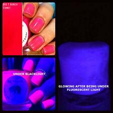 Glow-in-the-Dark Nail Polish Top Coat - Pink/Purple - Nail Polish -FREE SHIPPING