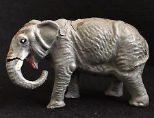 Vintage Elephant  Grey Lineol Elastolin Figurine Toy Animal Collectible Germany