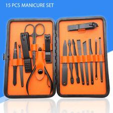 Kit de manicura de acero inoxidable de 15 piezas Kit de cuidado de uñas