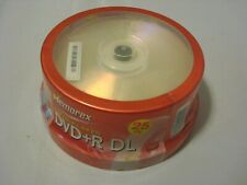 MEMOREX DVD+R DL Double Layer 8.5GB 2.4x 25 pack Dual Layer Blank DVDs RW