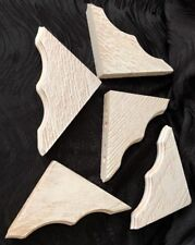 Lot Of 5 Patterened Crown Moulding Corners Real Wood