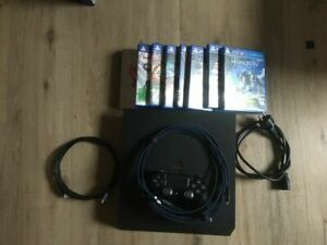 Spiele Sony PlayStation 4 Pro (CUH-7216B)  1 TB HDD + 7 Spiele 1 Controller