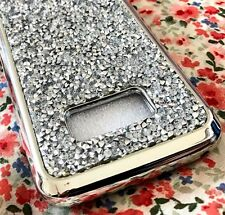 For Samsung Galaxy S8+ PLUS - Hard TPU Rubber Case Crystal Diamond Studs SILVER