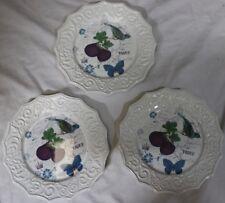 "Misaka Antique Countryside ""Fig"" Plates"