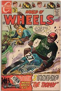 World of Wheels No. 24 Motorcycle Comics Charlton Hot Rod Comic Book Racing