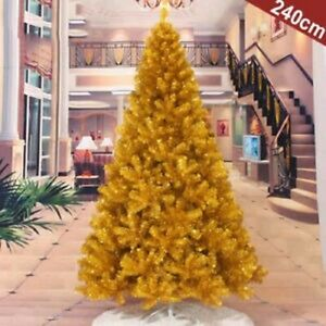 Gold 4 5 6 7 Feet Tall Christmas Tree Stand Holiday Season Indoor Outdoor Trees