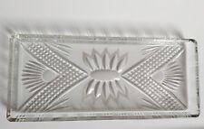 Bleikristall Platte 32 x 14 cm DDR 70er Jahre Details handgeschliffen
