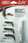 Eagle Claw Heavy Duty Rod Tip Repair Kit - Pack of 3 Black Tips & Cement #AHDTK