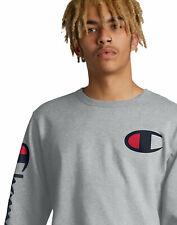 Para hombres mangas Largas Patrimonio Camiseta campeón de la vida grande C y vertical Script Logo