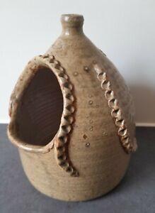 Studio Pottery Octopus Salt Pig Cellar Glazed Wood End Mark Unusual Sea Theme